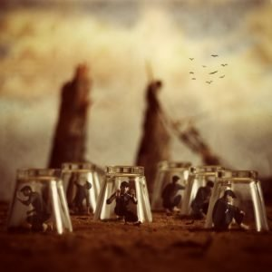 Achraf Baznani Surreal Photography under the cups