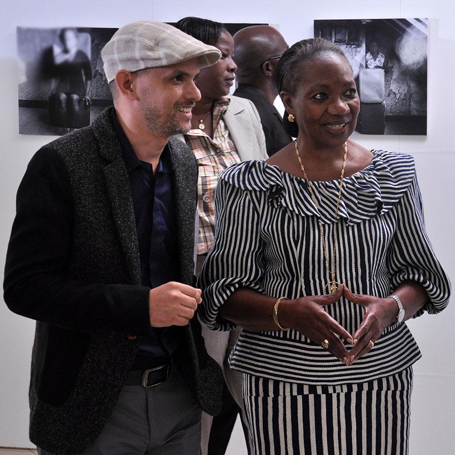 Achraf Baznani and Henriette Diabaté © 2016 Achraf Baznani